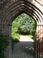 stone garden arbor arch