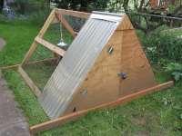 A-frame chicken coop