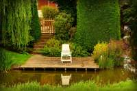 wooden patio garden