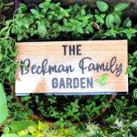 garden sign PersonifyGift Etsy