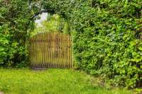 wide garden gate wooden