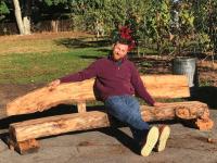 Jason on wood bench dusty miller
